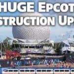 Huge Epcot Construction Update (Wallcot) Late October 2019