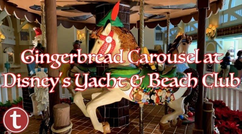 Gingerbread Carousel at Disney's Yacht & Beach Club