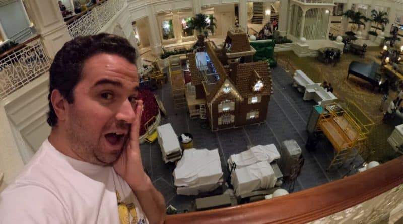 The Gingerbread House is up at the Grand Floridian