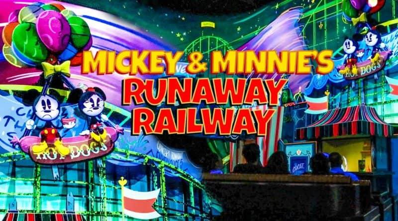 New Mickey and Minnie's Runaway Railway Full Multi-Angle On Ride POV